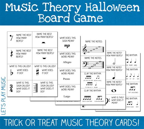 theory board for preschoolers let s 426 | halloween game cards