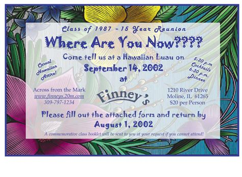 school reunion invitation templates