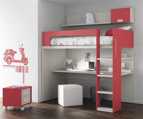 bureau pour chambre lit mezzanine avec bureau pour enfant mixte touch 69