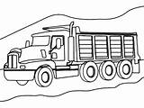 Coloring Dump Truck Mountain Road Cool Axle Awesome Clipart Trucks Warm sketch template