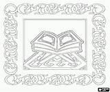 Quran Islam Coloring Sacred Ramadan Printable Word Games Arabic Oncoloring Craft sketch template