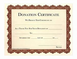 9 best images of printable certificates of donation printable donation certificate templates for Donation certificate template