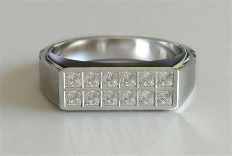 mens white gold princess cut diamond ring new zealand