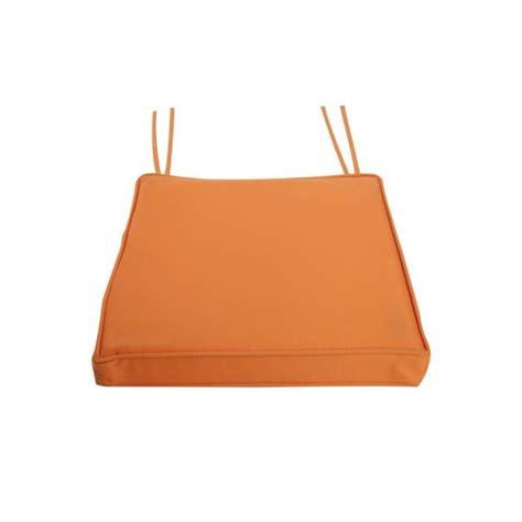 galette de chaise galette de chaise 40x40 imperméable orange achat vente