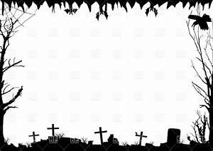 Halloween Border Black And White Landscape – Festival