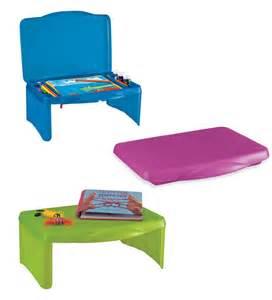blue kid activity center lap desk organizer craft supply