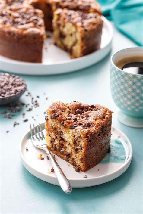 This one is delightfully moist with just the right amount of sweetness. Sour Cream Chocolate Chip Coffee Cake   Love and Olive Oil