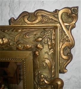 Miroir Ancien Le Bon Coin : beau et grand miroir ancien avec fronton decor d 39 un motif floral ~ Teatrodelosmanantiales.com Idées de Décoration