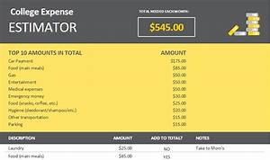 budet calculator college expense estimator