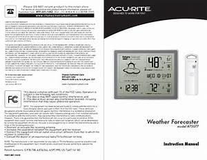 Acu-rite  75077 User U0026 39 S Manual