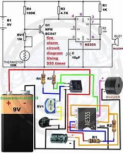 Fire Alarm Circuit Diagram Using 555 Timer In 2020