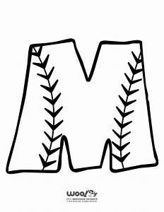 baseball alphabet letter m woo jr kids activities With baseball alphabet letters