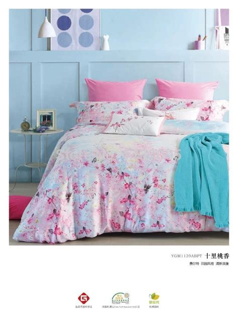 pink cherry blossoms bedding for quilt cover
