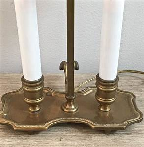 Small, Vintage, Bouillotte, Lamp, Adjustable, Brass, Double, Candle, Desk, Entry, Lamp, French, Style, Paris