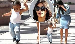 Kim Kardashian dotes on daughter North West as she takes ...
