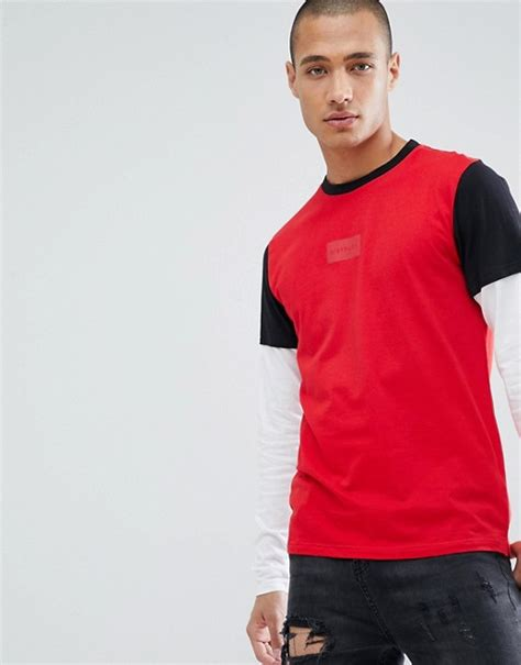 struct long sleeve double layer  shirt asos