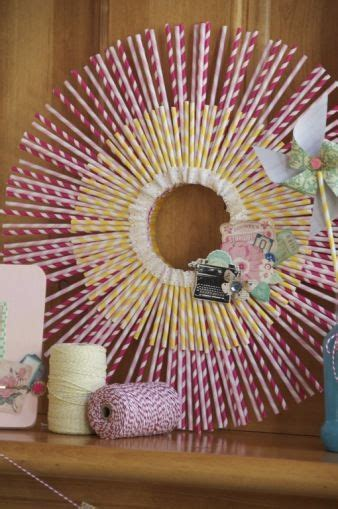 craft projects    striped paper straws