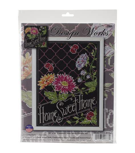 design works home chalkboard counted cross stitch kit jo