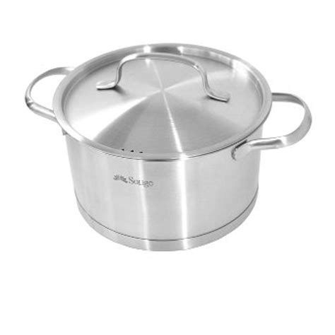 medium induction casserole pot  lid  cm stainless steel chefs quality cookware
