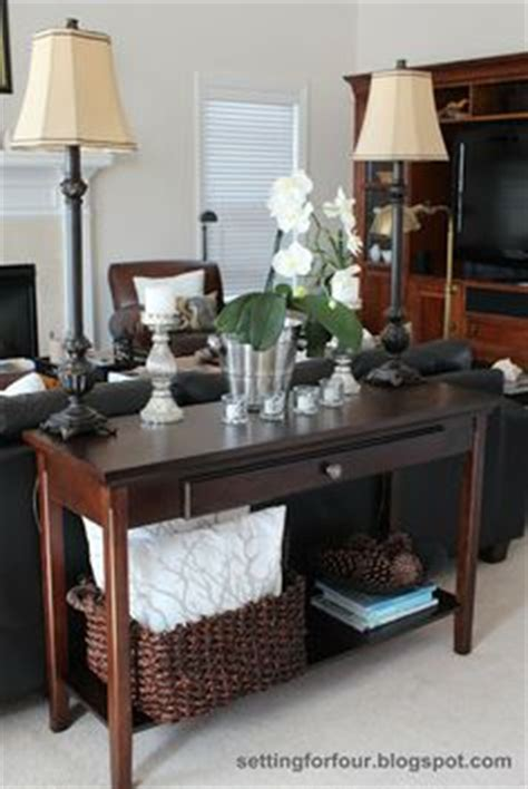 how to decorate a sofa table behind a couch 1000 images about sofa tables on pinterest sofa tables