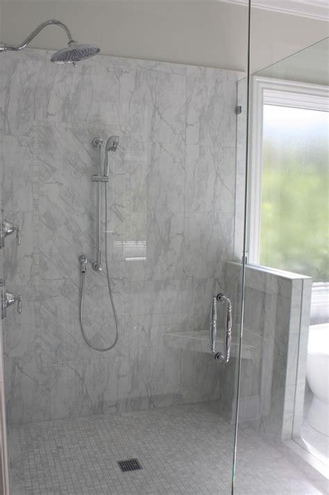 carrara porcelain tile Bathroom with carrara porcelain