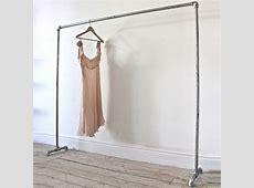 truman galvanised steel freestanding clothes rail by urban