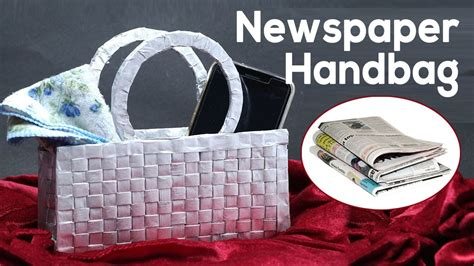 waste newspaper craft     handbag