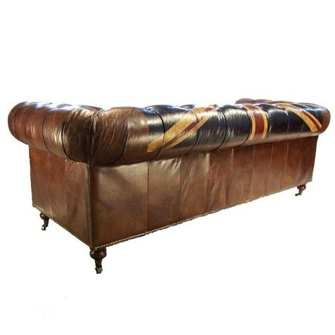 canapé chesterfield cuir canapé 3 places chesterfield cuir marron vintage drapeau