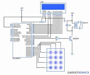 Electronic Code Locking System Using Pic 16f877