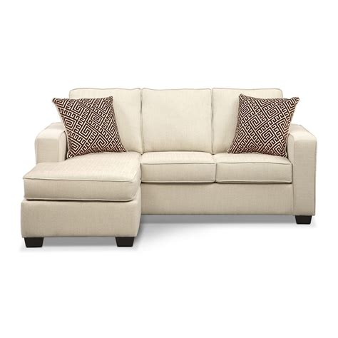 value city furniture sleeper sofa sterling innerspring sleeper sofa with chaise beige