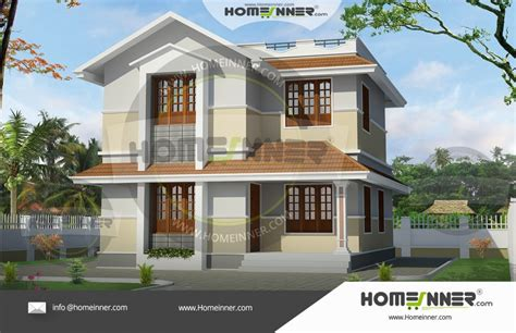 budget kerala style double floor house plan  sq ft