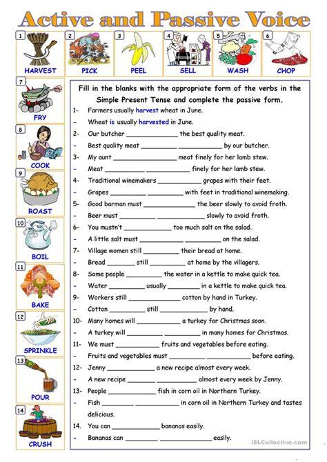 esl passive voice worksheet passive voice worksheet free esl printable worksheets