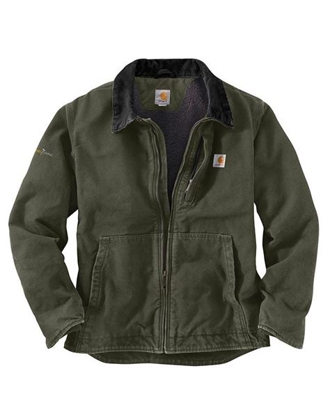 Rugged Work Clothes by Carhartt S Moss Sandstone Jacket Tough Workwear