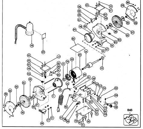 Wiring Diagram For Back by Black Decker Bench Grinder Parts Model 9407ty1 Sears