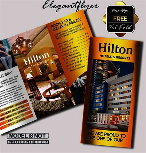 Free Hotel And Motel Tri Fold Psd Brochure By Elegantflyer 25 Best Free Psd Brochure Templates For In 2016