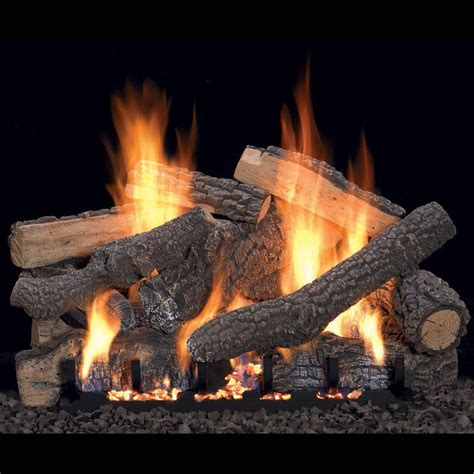 gas fireplace logs ponderosa vent free gas log set optional remote 18 quot 24