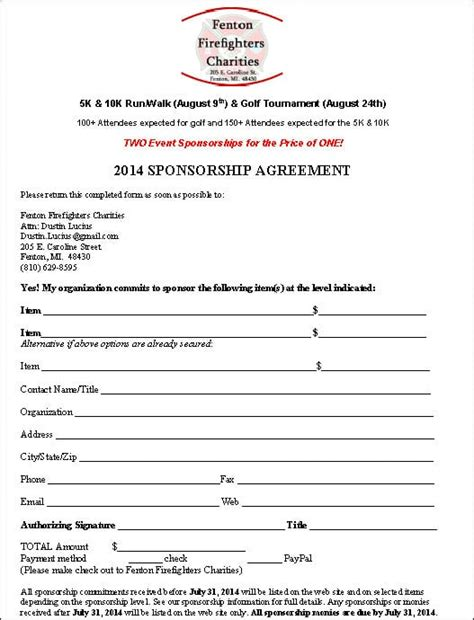 sponsorship agreement template top 5 resuorces to get free sponsorship agreement templates word templates excel templates