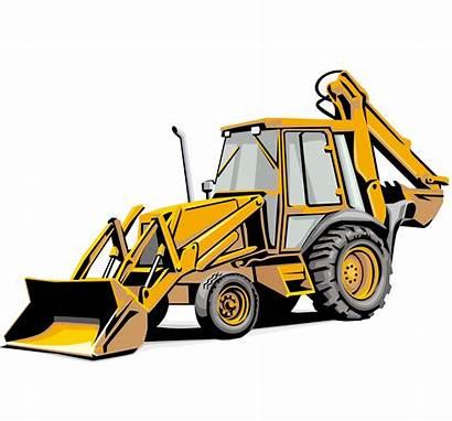 Backhoe Vector Clipart Vehicle Drawing Excavator Case