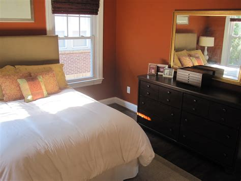burnt orange bedroom my home blue print