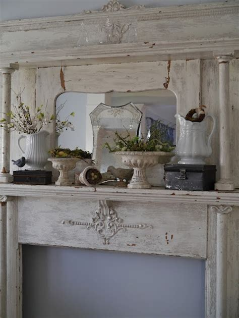shabby chic fireplace ideas 1000 ideas about shabby chic mantle on pinterest clematis trellis yard decorations and