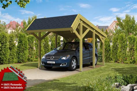 Holzcarport Skanholz «harz» Pultdach Einzelcarport Vom