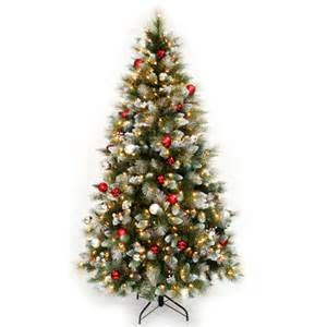 lighted artificial christmas trees 7 fairfax artificial pre lit decorated christmas tree