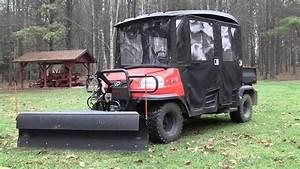 Kubota Rtv Curtis Plow V4208 4-way Hydraulic Conversion