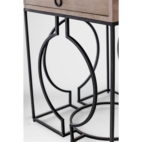 black metal end table bridger industrial loft grey wood black metal end table
