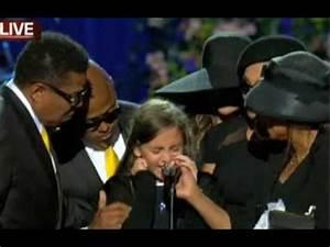 Michael Jackson Memorial: Paris Jackson speaks, says ...