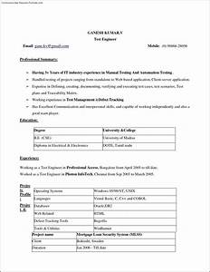 Instant resume template free samples examples format for Instant resume templates