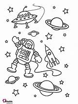 Coloring Astronaut Astronauts Bubakids sketch template