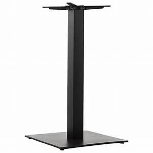 Pied De Table Metal Carré : pied de table pary carr en m tal 50cmx50cmx90cm noir ~ Teatrodelosmanantiales.com Idées de Décoration