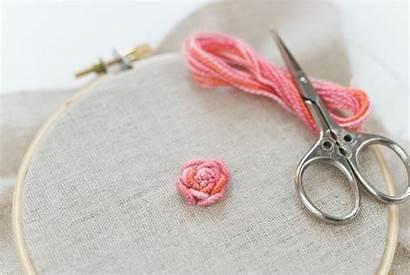 Bullion Rose Knot Tutorial Embroidery Johanson Mollie
