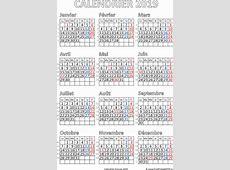 Calendrier français 2019 pdf Gratuit PDF imprimable